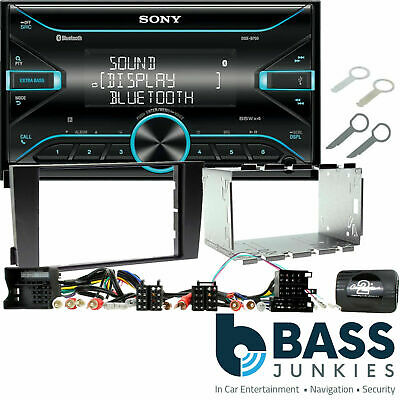 Audi A4 Sony D-Din CD Front USB Aux Car Stereo & Double Din Steering Wheel Kit