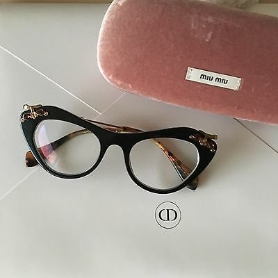 MIU MIU 09MV Eye glasses Black