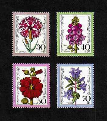 West Germany 1974 Flowers complete set of 4 values (SG 1712-1715) MNH