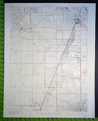 Harvey Chicago Heights Illinois 1929 Topographic Map 20x25 Inches