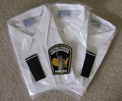 United States Immigration Sevice XXL Shirts With Patches, Extra Patch