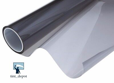 "WINDOW TINT ROLL 1-PLY CARBON BLACK 5% 40"" x 100FT SCRATCH RESISTANT COATING"