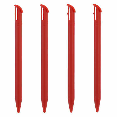 ZedLabz stylus for Nintendo New 3DS XL touch screen slot in pens - Red 4 pack
