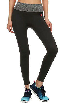 Womens Active Wear Leggings Foldover Waistband Yoga / Gym Leggings
