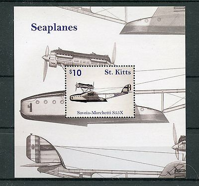 St Kitts 2016 MNH Seaplanes Savoia Marchetti 1v S/S Planes Aviation Stamps