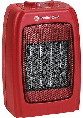 Portable Electric Ceramic Heater Space Room Adjustable Thermostat Compact Quiet