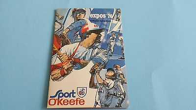 1976 Mlb Montreal Expos Pocket Schedule***sport O'keefe***