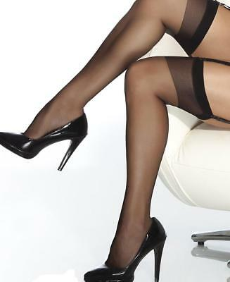 New Coquette 1706 Black Sheer Thigh High Stockings