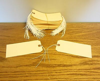 """125 Avery Dennison Pre Strung  #8 Blank Shipping Tags 6 1/4"""" By 3 1/8"""" Scrapbook"""