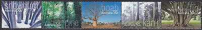 2005 Australia Decimal Stamps -Native Trees - MNH strip of 5