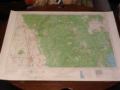 "Rare 1958 Chicho, Calif. Nevada - N. Ca Map Marysville, Oroville, Quincy 22""x32"""