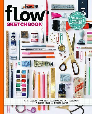 Flow magazine sketchbook 2016 art drawing book English & Dutch edition NEW