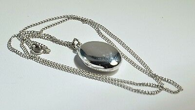 Antique/vintage sterling silver picture Locket with chain18 inch from end to end