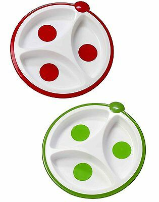 Dr. Brown's Designed To Nourish 2 Pack Divided Plate - Red/Green