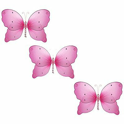 """The Butterfly Grove Emily Butterfly Decoration 3D Hanging Mesh Organza Nylon 5"""""""