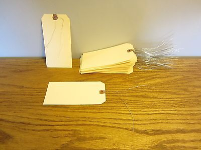 """50 Avery Dennison Wired  #8 Blank Shipping Tags 6 1/4"""" By 3 1/8"""" Scrapbook Wire"""