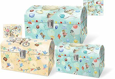 Punch Studio Everyday Children Nesting Treasure Chests - Up Up And Away