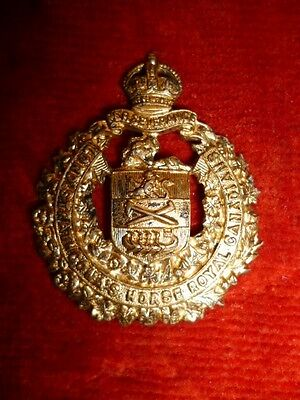 Lord Strathcona's Horse Officer's Silver Collar Badge KC - Canada WW2, Gaunt