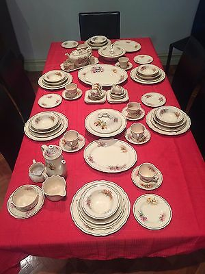 "Royal Doulton Dinner Set ""Orchid D5215"" Circa 1930"