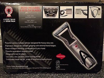 LIVERYMAN Harmony by Eddie Palin clippers/trimmers - Horse Grooming - battery