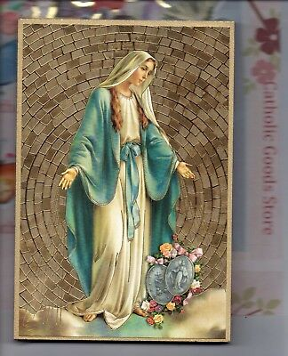 "Our Lady of the Miraculous Medal Gold Foil Mosaic Plaque (4"" x 6"")"