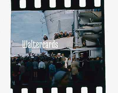 35mm slide 1940s 1950s Battleship ? Aircraft Carrier ? World War II 2 WW2 ?