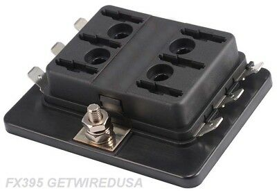 1 In 6 Out Power Distribution Block Atc Automotive Fuse Panel / Holder 6-Way
