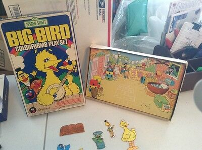 1986 Big Bird and Friends Colorforms Set