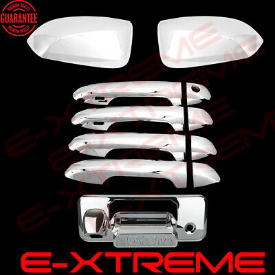 Chrome Cover Combo For 2016 17 2018 TOYOTA TACOMA Mirrors+Door Handles+Tailgate