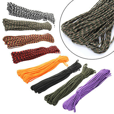 Hot 550 Paracord Parachute Cord Lanyard Mil Spec Type III 7 Strand Core 100 FT