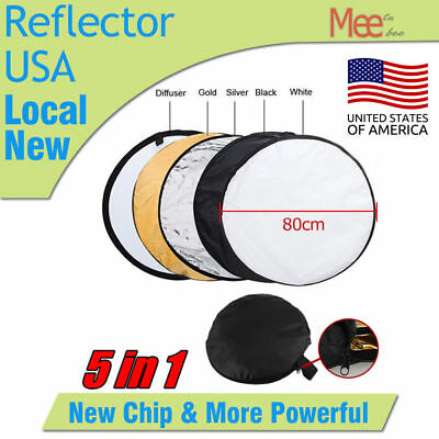 """80cm 5 in 1 32"""" Photography Photo Reflector Light Mulit Collapsible Reflector"""