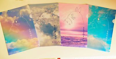 2x Kawaii Cute 3D Totoro Sky A4 folder file Plastic document holder organiser UK
