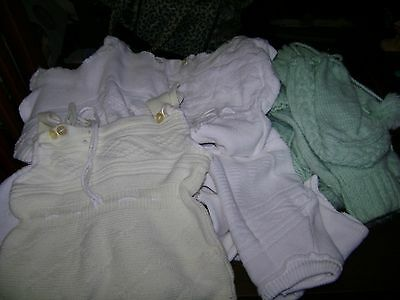 Vintage Handmade Crochet Baby Clothes...Lot of 7 Pieces
