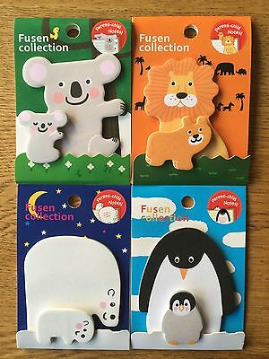 Cute kawaii animal post it memo page flag sticky notes UK seller