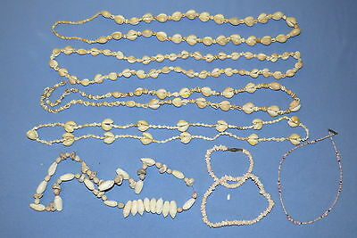 Cowry shells beaded & seashell necklaces for wearing, crafts, jewelry making