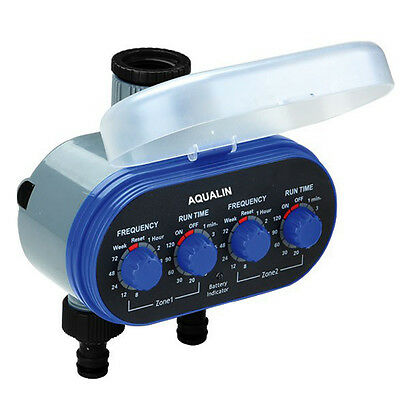 Two Outlet Ball Valve Electronic Hose Water Timer Garden Irrigation System