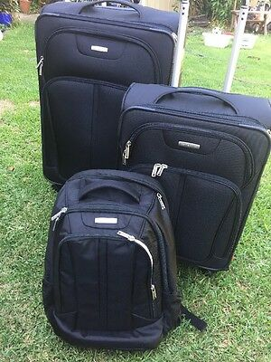 Samsonite Spinner 3 Piece Suitcase Luggage Travel Set-PU Only-As New