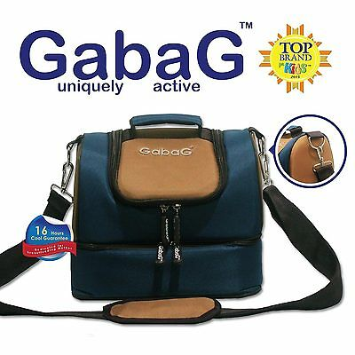 Gabag Baby Cooler Bag, Breastfeeding, Lunch & Travel & 2 Packs of Ice Gel - Blue