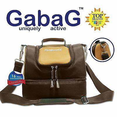 Gabag Baby Cooler Bag, Breastfeeding, Lunch& Travel & 2 Packs of Ice Gel - Brown