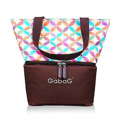 Gabag Baby Cooler Bag, Breastfeeding, Lunch& Travel & 2 Packs of Ice Gel - Curvy