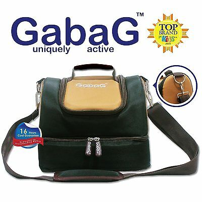 Gabag Baby Cooler Bag, Breastfeeding, Lunch& Travel & 2 Packs of Ice Gel - Black