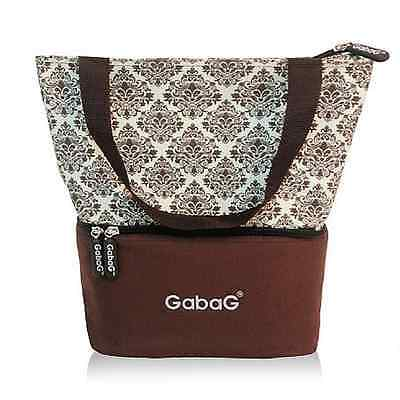 Gabag Baby Cooler Bag, Breastfeeding, Lunch& Travel & 2 Packs of Ice Gel - Cremy