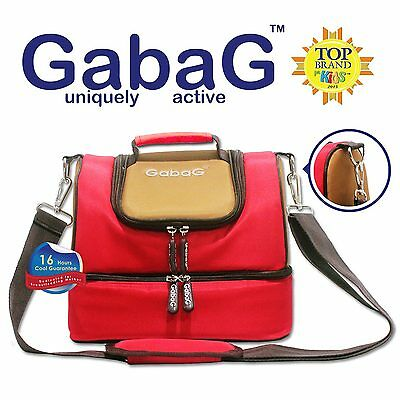 Gabag Baby Cooler Bag, Breastfeeding, Lunch & Travel & 2 Packs of Ice Gel - Red