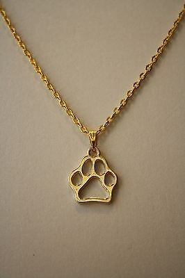 Paw Print  Cute Pendant, Necklace, Chain 18""