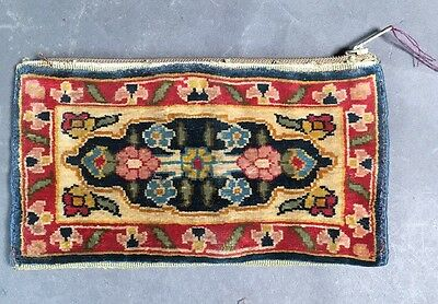 Vintage Islamic Chinese Persian Purse Clutch Silk Wallet Rug