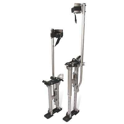 Pentagon Tool 24 in. to 40 in. Adjustable Height Silver Drywall Stilts