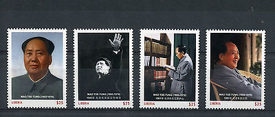 Liberia 2012 MNH Mao Tse-Tung 4v Set Chairman Leader China Zedong Stamps