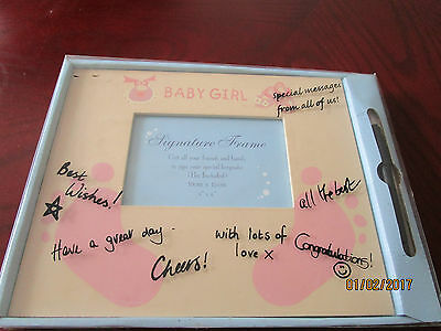 Baby Girl's Signature Photo Frame