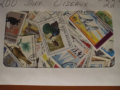 BIRDS 200 DIFFERENT STAMPS,  nice selection from around the world