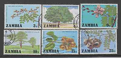 (Z-59) ZAMBIA  1976 Issue WORLD FORESTRY DAY S.G.247-252 'FINE USED'